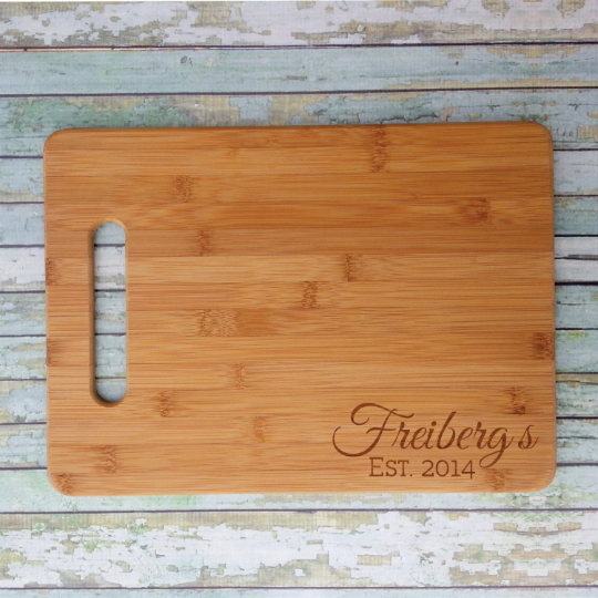 Family Name and Date (Right-Hand Corner) Chopping Board