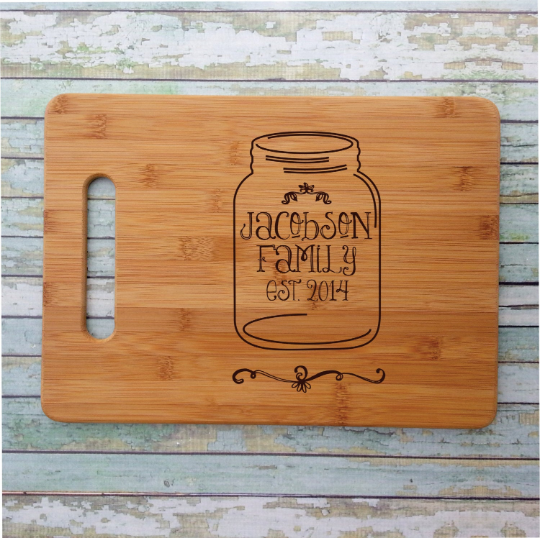 Canning Jar Cutting Board