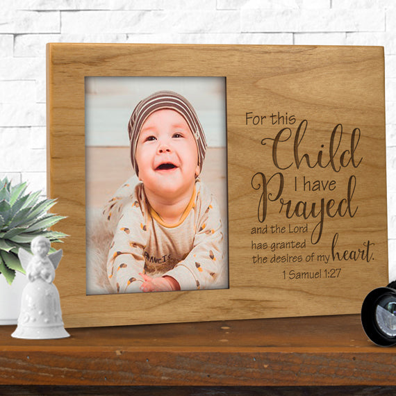 For This Child I Have Prayed Frame Personalized Gallery