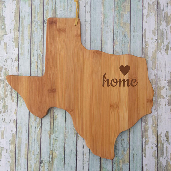 State Cutting Board - Texas Heart and Home