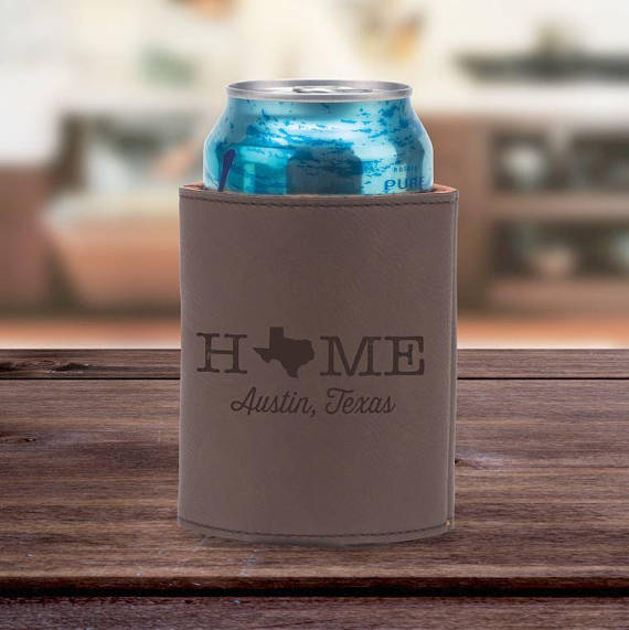 Leather Can Holder - Home State