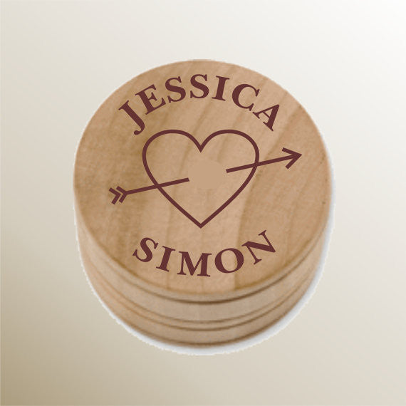 Monogrammed Wood Trinket Box - Personalized Gallery - 1