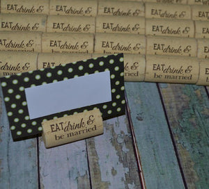 Cork Escort Card Holders Table Markers - Initial between Design - Personalized Gallery - 3