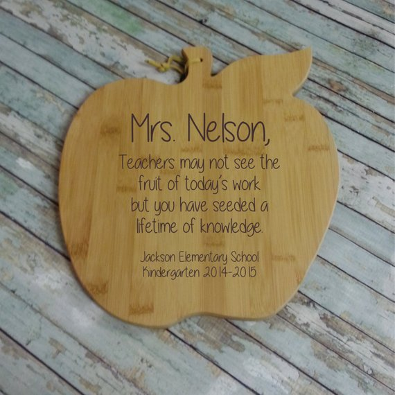 Teachers May Not See Apple Cutting Board