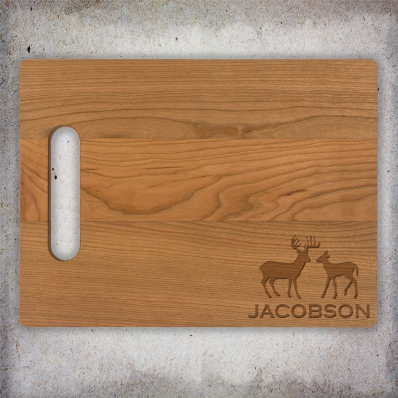 Deer Family Name Cutting Board