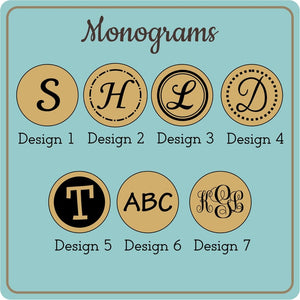 Monogram Coasters (Set of 4)