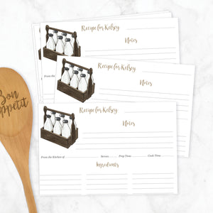 Milk Carrier Recipe Cards