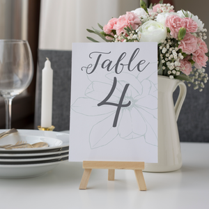 Table Number Signs - Magnolia Bloom