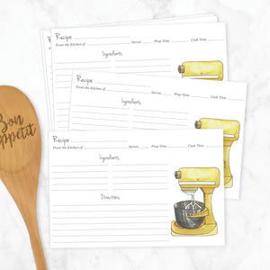 Stand Mixer Recipe Cards