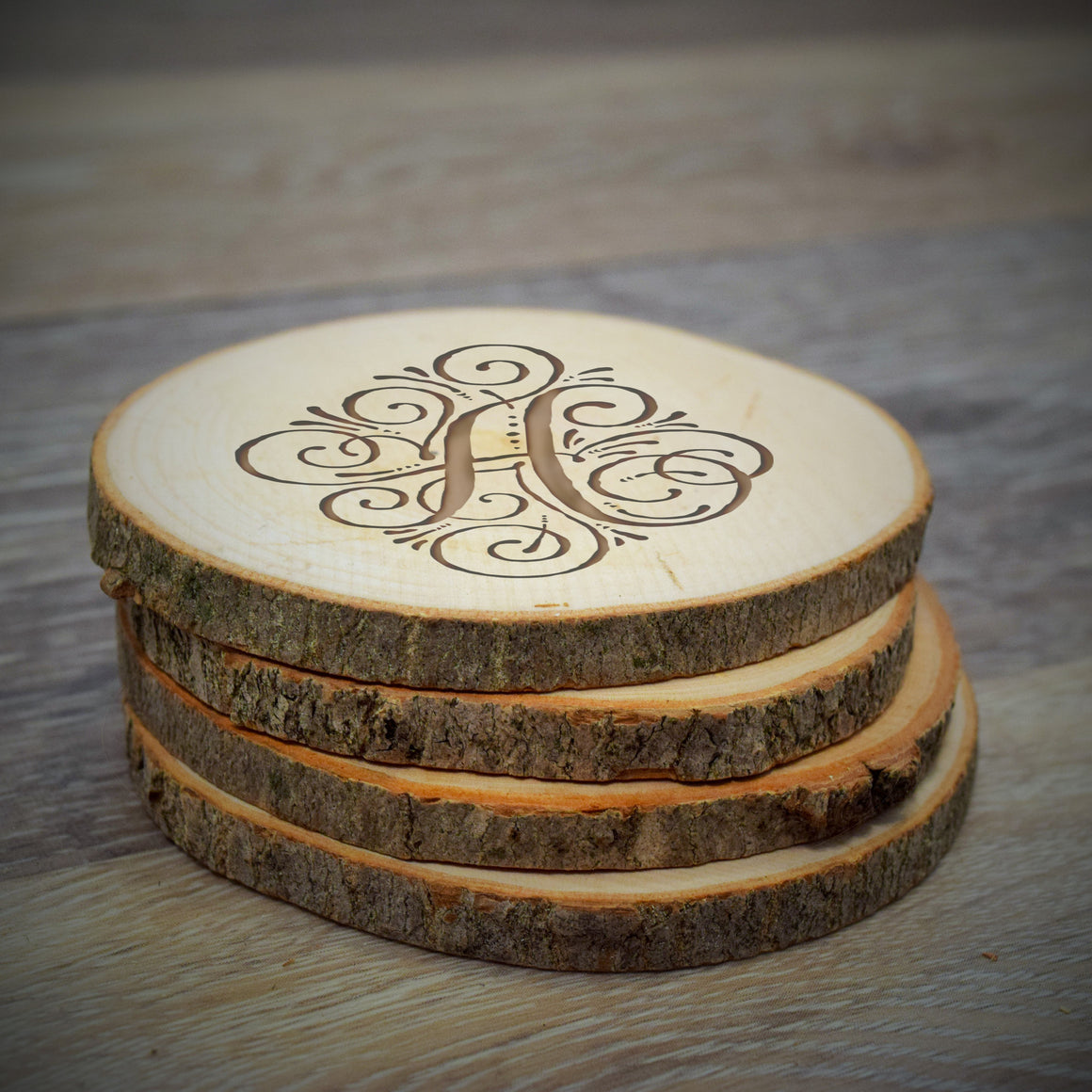 Wood Slice Coaster - Personalized Gallery - 1