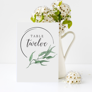 Wedding Table Signs