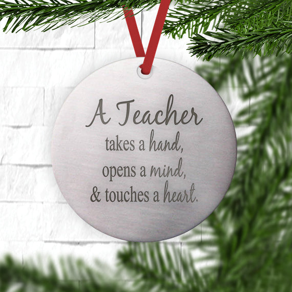 A Teacher Takes a Hand Ornament