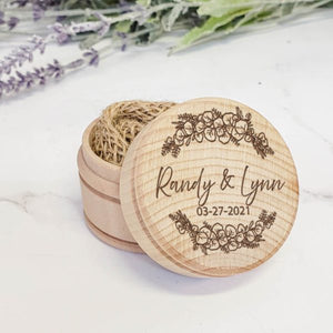 Wooden Wedding Ring Box - Eucalyptus