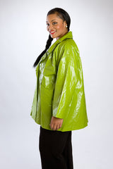 Lime Green Rain Jacket