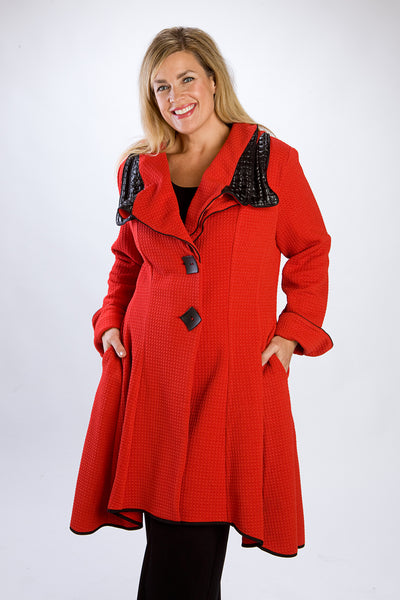 Dressy Cherry Red Coat