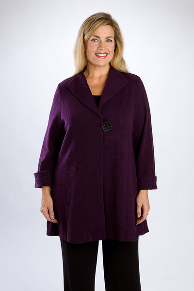 Plum Single Button Swing Topper