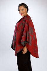 Baroque Cherry Red Cape