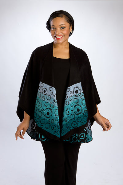 Black Swirls Reversible Cape