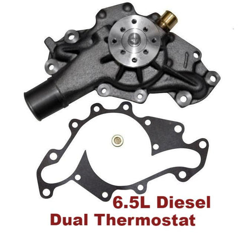 Water Pump 6.5L Diesel Dual Thermostat (130-7200)