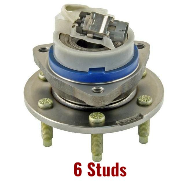Rear Hub Bearing W/ABS RWD 6 Studs Naturally Aspirated (512243)