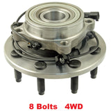 Front Hub Bearing with-ABS 4WD 8 Stud (515101)