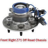Front Hub Bearing Right with-ABS RWD Z71 Off Road Chassis (515109)
