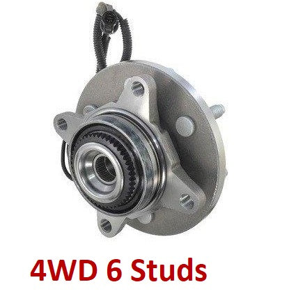 Front Hub Bearing with-ABS 4WD 6 Stud;Base Package (515119)