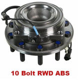 Front Hub Bearing with-ABS RWD 10 Stud;Cab & Chassis (515132)