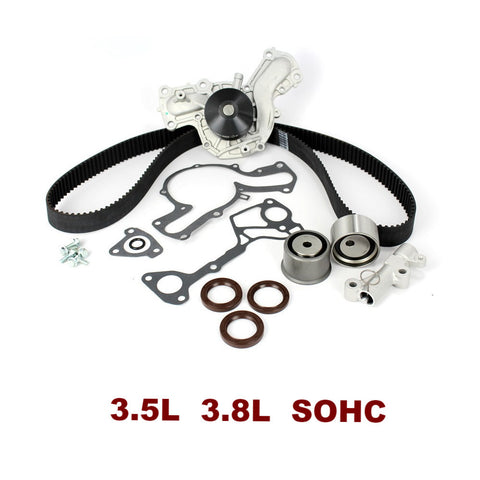 TIMING BELT KIT W/WATER PUMP 3.5L 3.8L SOHC (TBK161WP)