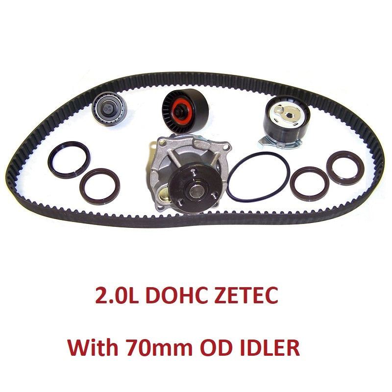 TIMING BELT KIT W/WATER PUMP 2.0L DOHC ZETEC (TBK418BWP)