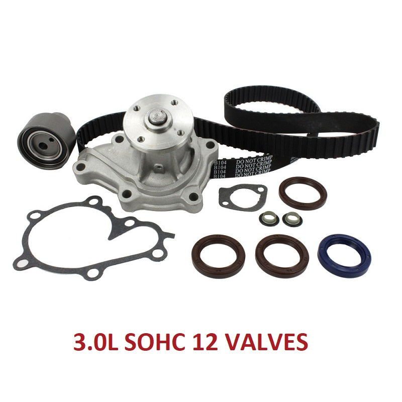 TIMING BELT KIT W/WATER PUMP 3.0L SOHC (TBK616AWP)