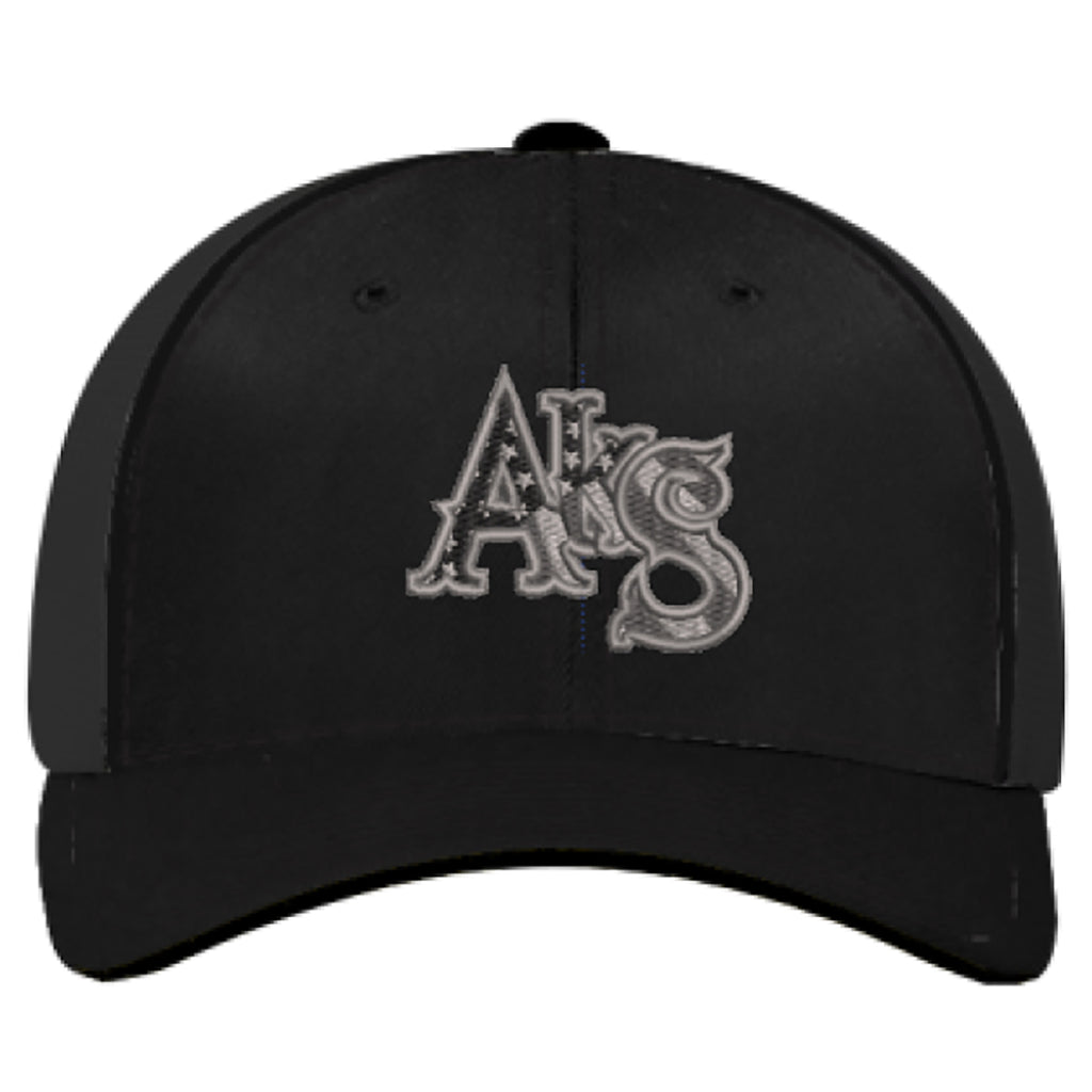 Stars & Stripes Trucker Hat in Black with Smoke