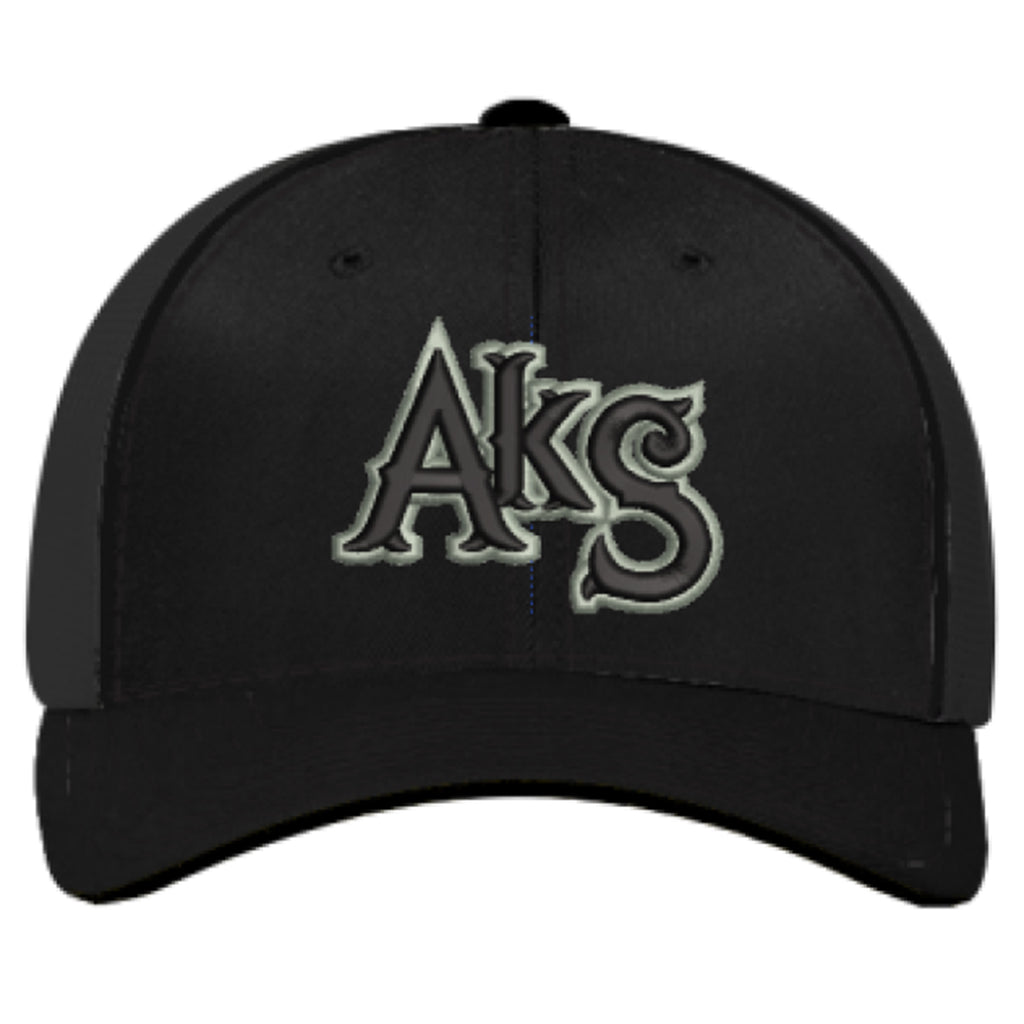 AkS Original Trucker Hat in Black with Army Green