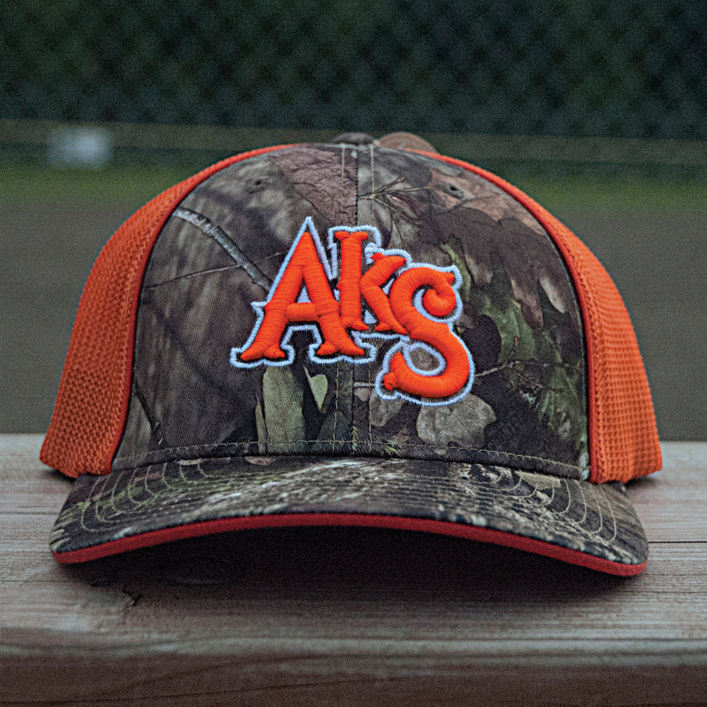 AkS Original Trucker Hat in Break-Up Country Camo & Orange