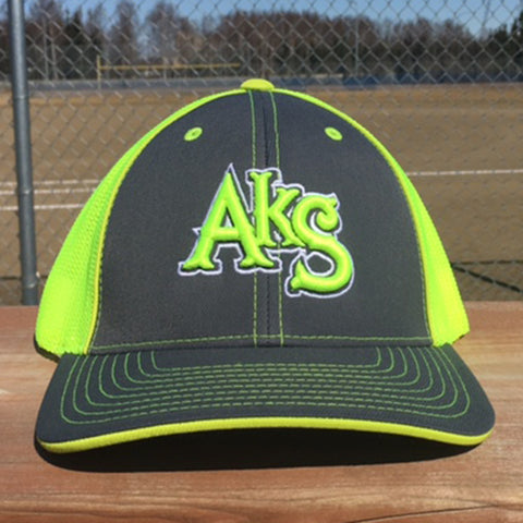 AkS Original Trucker Hat in Graphite & Neon Yellow
