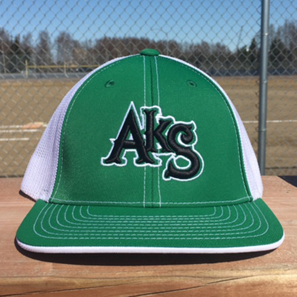 AkS Original Trucker Hat in Kelly Green & White with Black