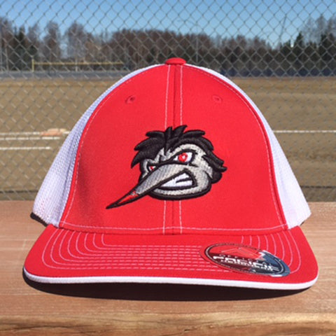 Swarm Trucker Hat in Red & White