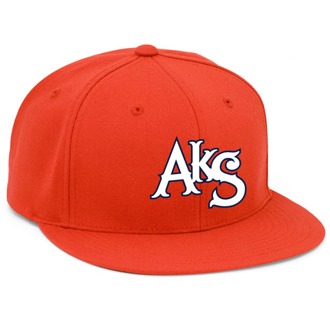 AkS Original Flatbill Wool Hat in Orange
