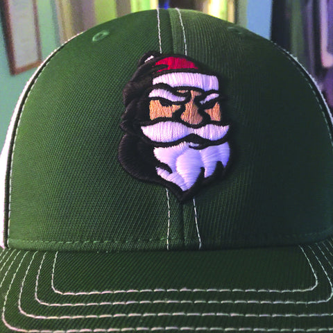 Nicks Flatbill Trucker Hat in Green & White