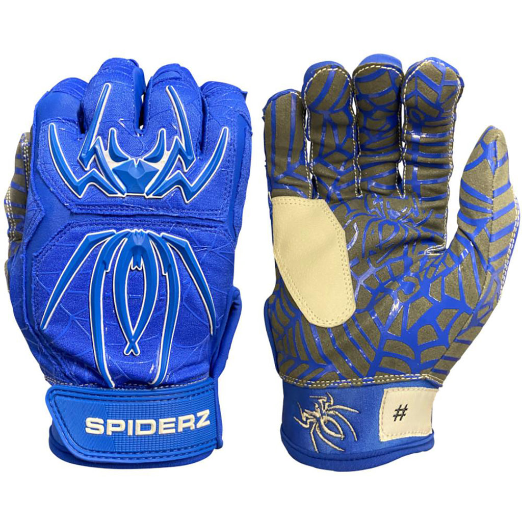 Spiderz Hybrid Batting Gloves – Royal Blue/White