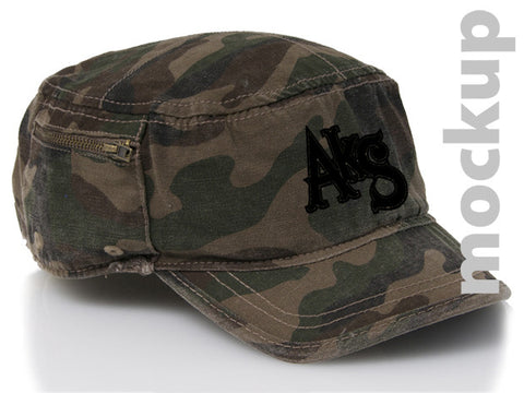 AkS Original adjustable snap-back military hat in Camo