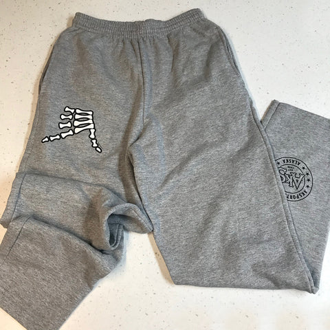 AkS Bones Sweatpants in Heather Gray