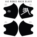 AkS Bones Dual Layer Mask - Black