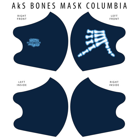 AkS Bones Dual Layer Mask - Columbia