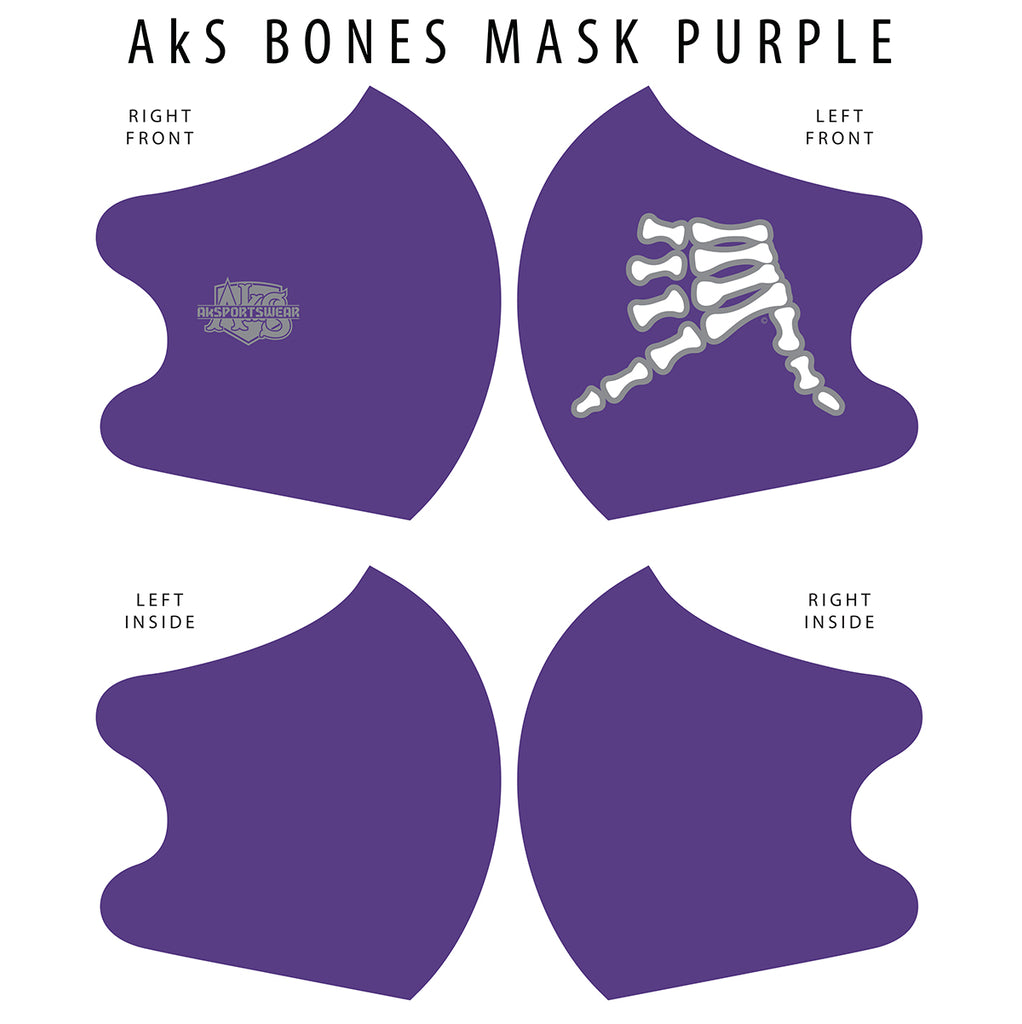AkS Bones Dual Layer Mask - Purple