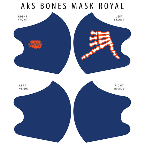 AkS Bones Dual Layer Mask - Royal