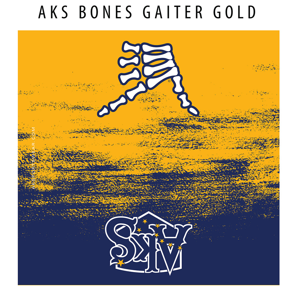 AkS Bones Gaiter in Blue & Gold
