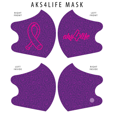 AkS4Life Dual Layer Mask in Purple