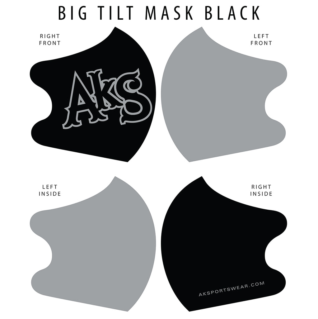 AkS Big Tilt Dual Layer Mask - Black