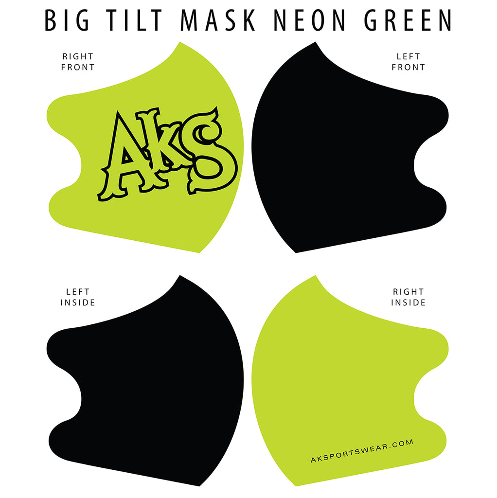 AkS Big Tilt Dual Layer Mask - Green